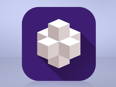 I Like Cubes minimalist minimal simple clean cube geometric 3d app icon design iphone white