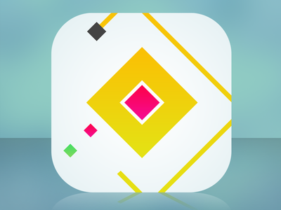 Its a square....with some smaller squares square cube minimal minimalist simple clean ios7 app icon design game retro