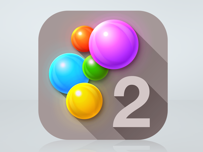 Like my sexy balls? ios puzzle game app icon simple dots 2 two balls shiny colorful