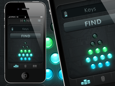 Hone - app design iphone app ios sci-fi futuristic interface ui