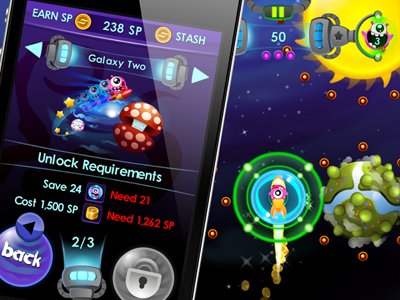 iOS Game game ios iphone ui gameplay cute mobile space sci-fi iphone game