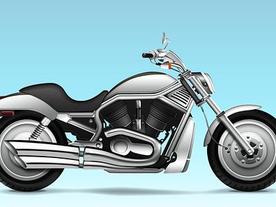 Harley vector motorbike motorcycle harley bike photoshop icon realistic
