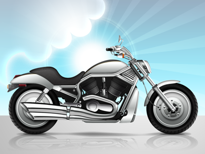 Harley vector motorbike motorcycle harley bike photoshop icon realistic