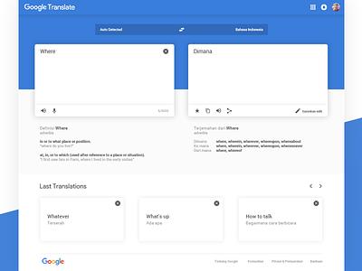 Redesign Google Translate google translate web design ux ui redesign google