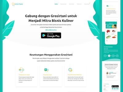 Grosirtani ux ui branding ui  ux design clean web design