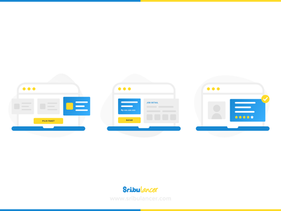 How Sribulancer Work invitation clean web design design illustration ux ui sribu sribulancer