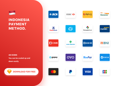 [48 ICONS] Indonesian Payment Method sketch bank gopay ovo bca download free freebies visa paypal mastercard payments indonesia uxdesign uidesign dribbble vector icon set icons