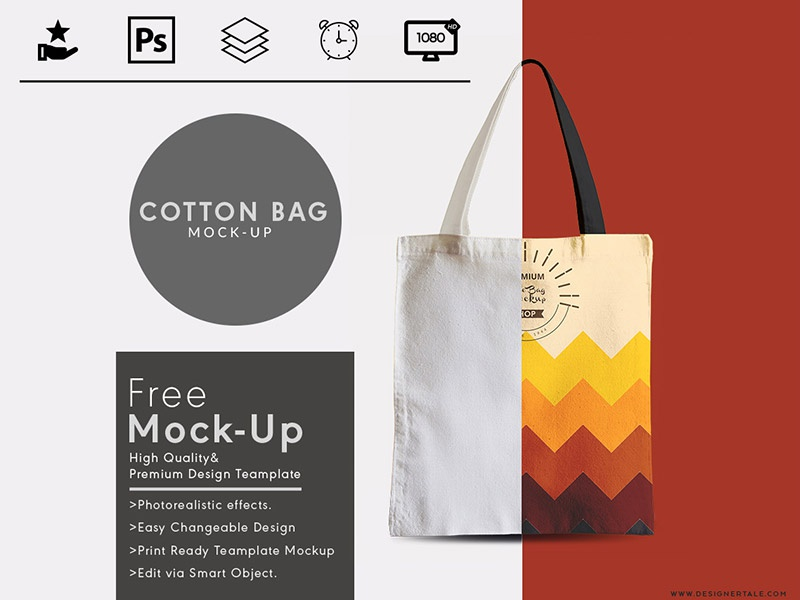 Tote Bag Mock Up Free Psd Template Ping Side Designertale Mockup