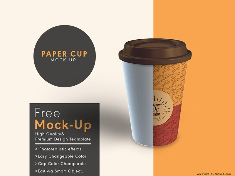download paper cup mock up free psd template by designertale
