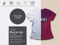 Top View Free T Shirt Mock Up Template