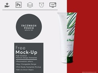 Facewash Pouch Free Mock Up