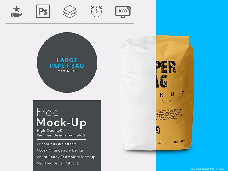 large paper bag mock up free psd template by designertale dribbble