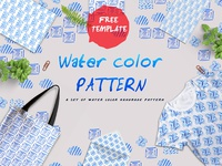 Handmade Water Color Free Pattern Template