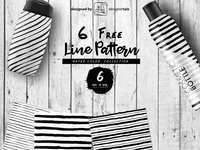 Water Color Line Pattern Vector Pack
