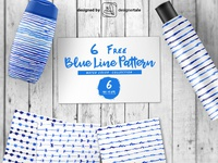Blue Water Color Free Eps Line Pattern