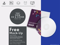 Top View Cd And Cover Free Mock Up Template