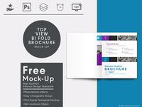 Top View A4 Bi Fold Brochure Mock Up