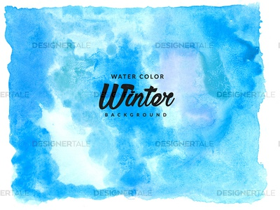 Winter Water Color Background Free Texture