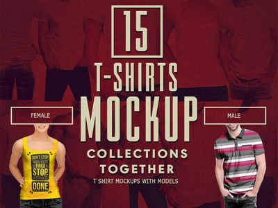 Men T Shirt Mockup Bundle Designertale