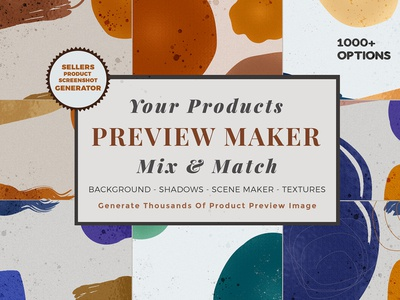 Graphic design sellers product preview maker image 1