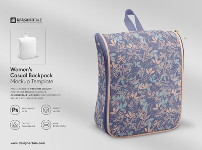 Casual backpack mockup