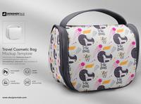 Travel cosmetic bag mockup