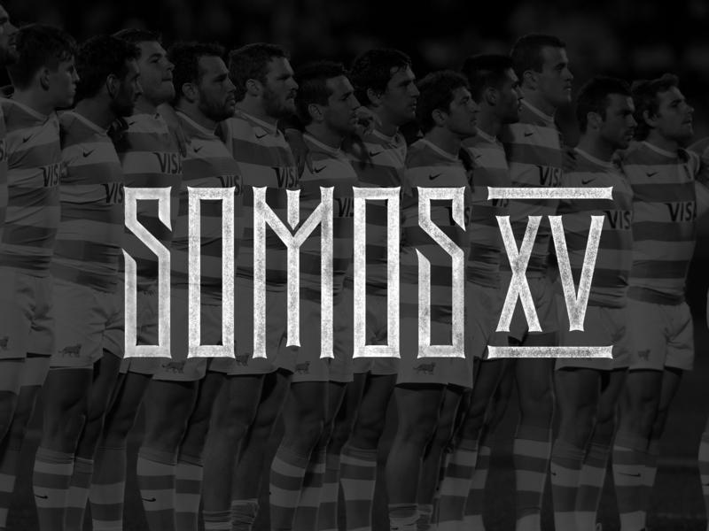 Somos XV / Logo font calligraphy gothic type espn sport rugby