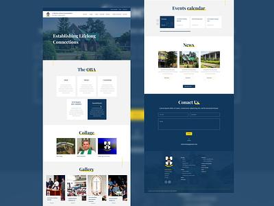 School Old Boy Association Website school app website design school website old boy website school website