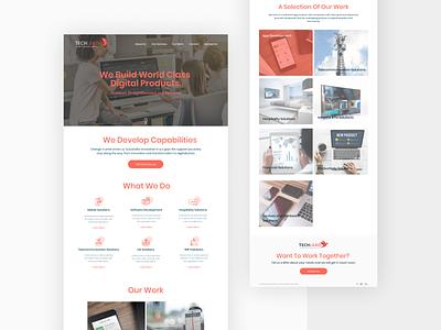 Software development company website design software company web white minimal web design landing page software development