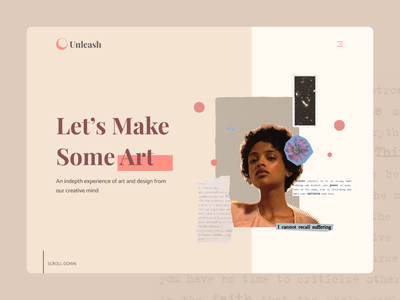 Concept design for art agency collage web design collage design art agency designdesign agency pink nude web design wesite landing page mixed media collage web collage art