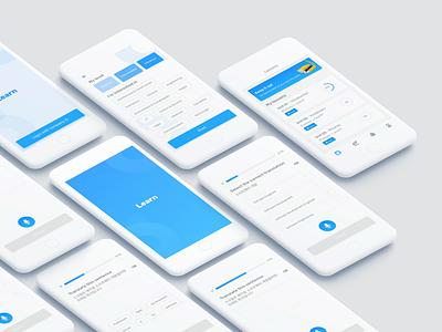 Language learning app ios mobile app korea english language mobile app design language learning app