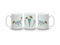 Birds Hovering Above Flowers | Mug