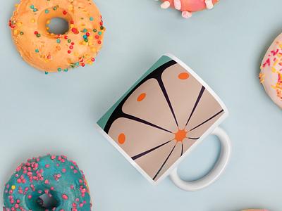 Flowercookie Coffee Mug   Pink pink coffee mug design print