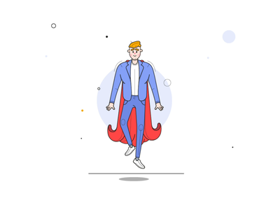 character animation for VWFS's onboarding illustration app fun design creative concept character animation branding animation aftereffects