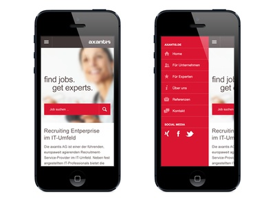 Mobile Website mobile iphone android start job