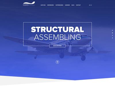 Aircraft Company aircraft relaunch blue bevel edges