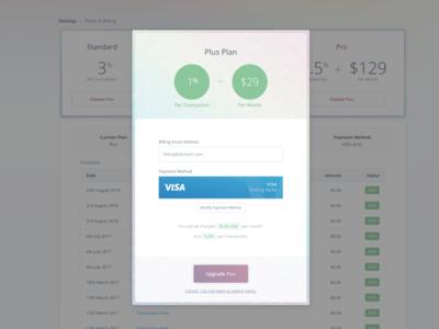 Billing Page/Modal WIP
