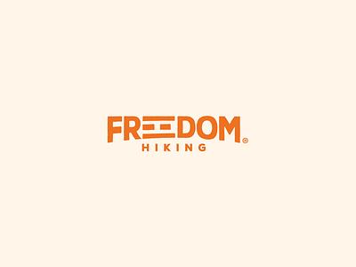 Freedom Hiking Logo branding identity graphics logo design logo