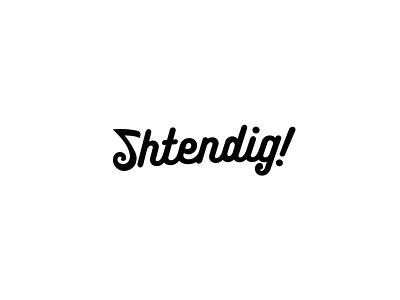 Shtendig Music Logo musical note identity wordmark logomark logo