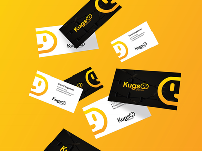 Kugs Power Business Cards design identity smile plug power logo. electric
