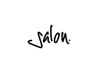 Salon Logotype marker signature salon typography logo