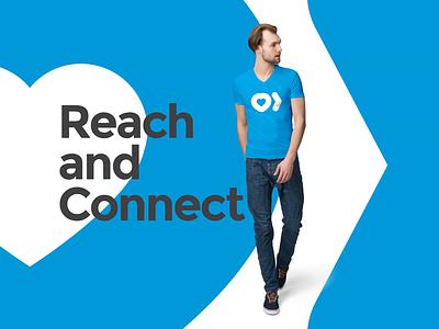 Reach and Connect Identity reach organization heart identity brand logo