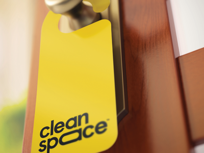 Clean Space identity typography space cleaning logo