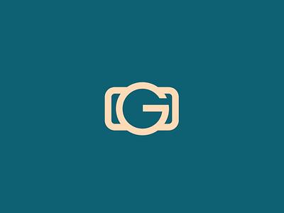 Camera Logomark camera icon letter g photography
