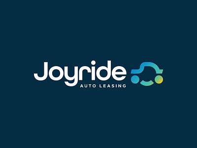 Joyride Auto Leasing Logo leasing joy car smile logo