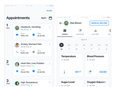 Appointments Dribbble