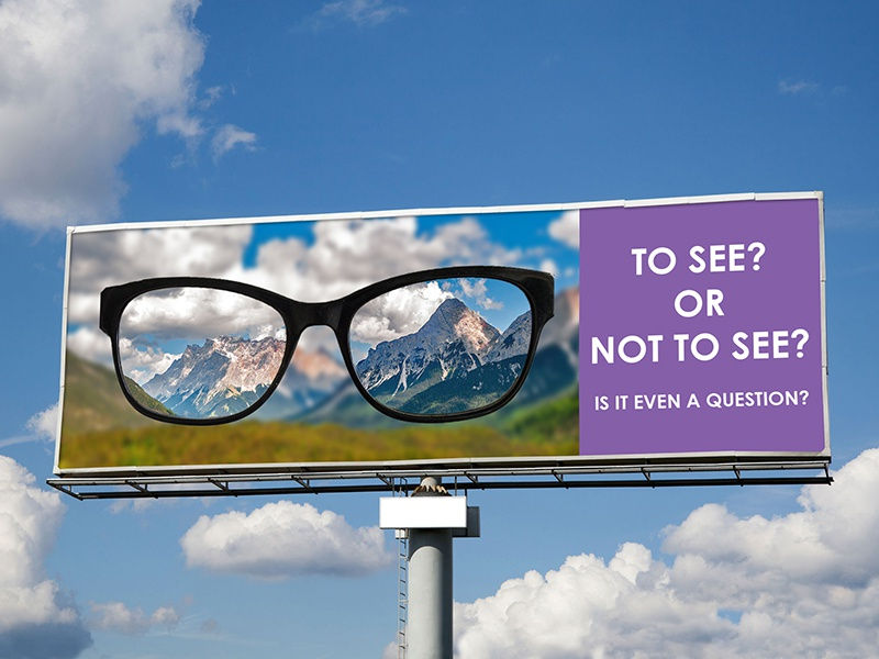1361131a1d16 Glasses Billboard by Heather Larsson