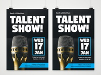1ab25a36148f Heather Larsson. Talent Show Poster