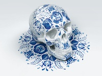 Gzhel skull