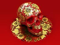 Khokhloma skull
